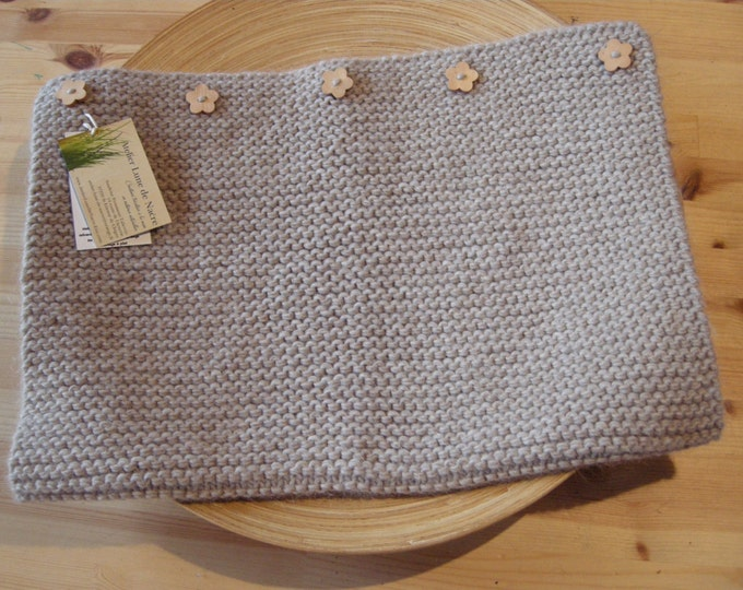Baby blanket - alpaca, wool & linen - light beige - natural baby - other colors made to order- free shipping worldwide