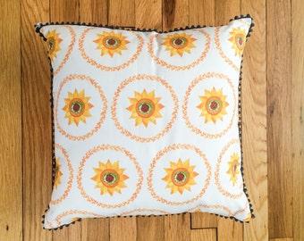 Sunflower Throw Pillow SALE (half off!!)