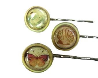 3pcs Hairpin Hair Clip Bobby Pin Hair Decoration Butterfly Seashell Swan Hair Accessories