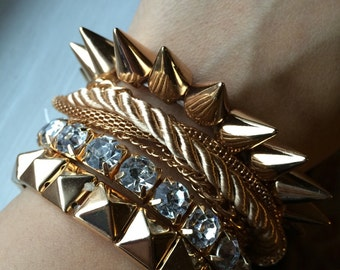 Multilayer rope & chain bracelet  Arm candy set