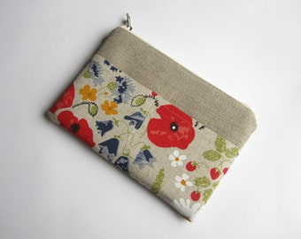 Linen eReader sleeve with pocket, iPad mini case,  iPad Air sleeve, iPad sleeve, Kindle case, Paperwhite case, Kobo case, Nook cover