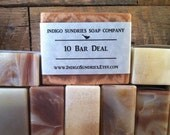 Choose 10 Bars of Handmade Cold Process Vegan Soap //Scented and Unscented Soap // Clay Soap // Soap for Women // Soap for Men // Bulk Soap