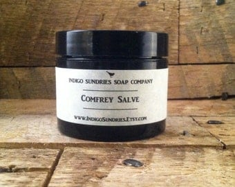 Comfrey Salve // All Natural Healing Salve // Salve for Sprains Bruises Scars // Scar Salve // Tattoo Salve // Salve for Inflammation