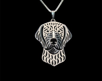 Wirehaired Vizsla jewelry - sterling silver pendant and necklace