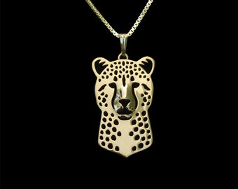 Cheetah jewelry - Gold pendant and necklace
