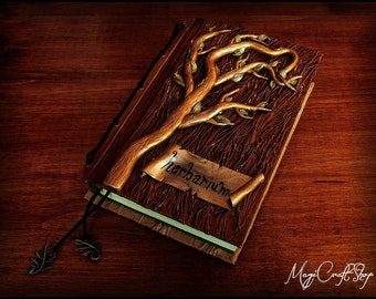 Herbarium TREE book of shadows - small size 6,3x4,7 inch (16,2x11,8 cm) - Pagan Wicca spell magic witch herbs