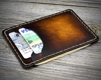 Minimal Leather Wallet / Thin Leather Wallet / Small Leather Wallet / Handmade Wallets / Minimal Wallet