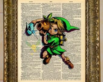 Legend of Zelda Child Link Majora's Mask Dictionary Art