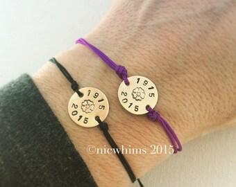 1915-2015 Armenian Genocide Commemorative String Bracelet - Brass or Nickel Silver