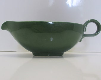 Homer Laughlin China Company Charm House Forest Green Rhythm Shape - Gravy Boat