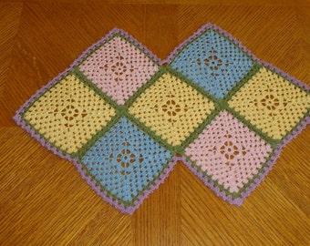 Handmade Doily / Lacy Crocheted Table Runner / Vintage Inspired Decor / Spring Doily / Crochet Holiday Doily / Wedding Table Decor