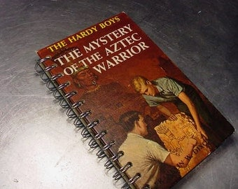 HARDY BOYS JOURNAL Mystery of the Aztec Warrior  Vintage Altered Book Notebook