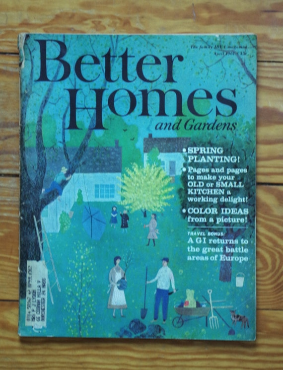 Vintage better homes and gardens magazine april 1961 for Better home and garden magazine