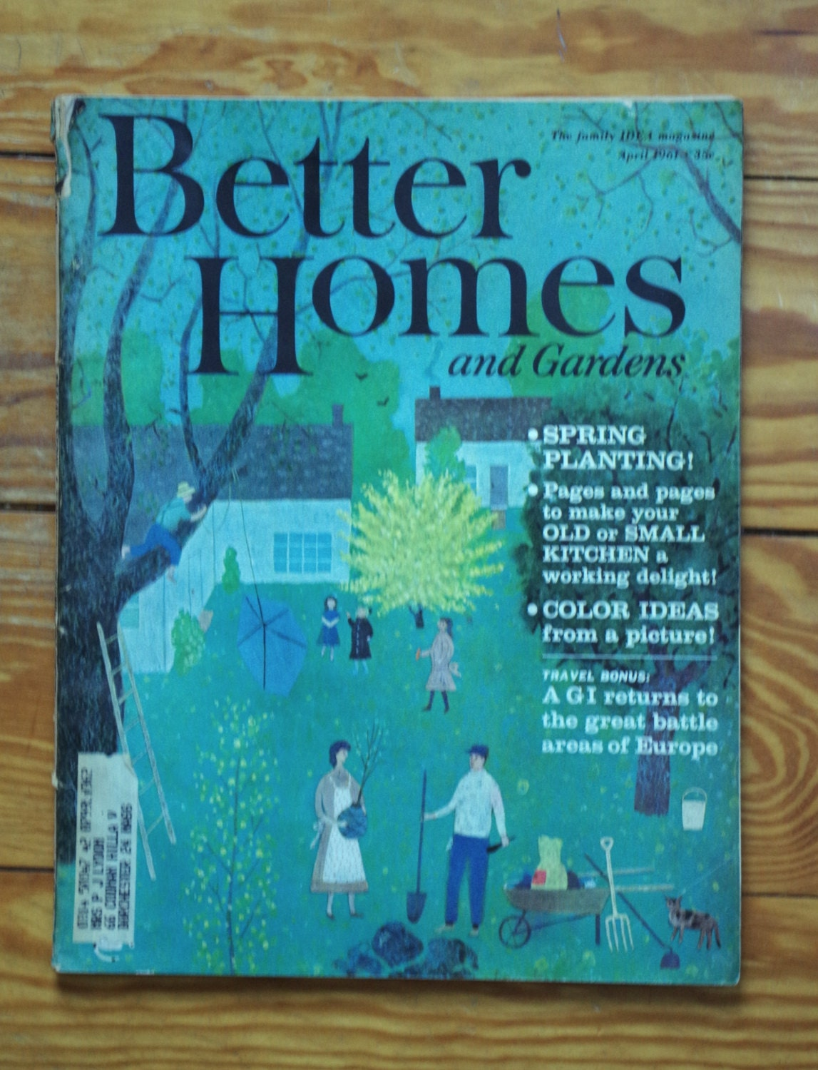 Vintage better homes and gardens magazine april 1961 for Better homes and gardens tv show contact