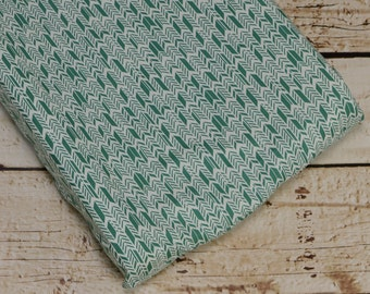 Ready to ship-Changing Pad Cover in turquoise feather fabric-35% off regular price