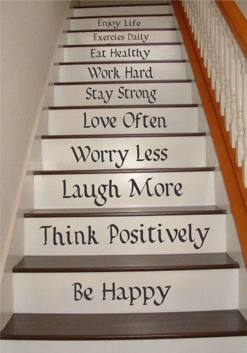 Life Quotes Stair Riser Decals Stair Decals Stair Stickers