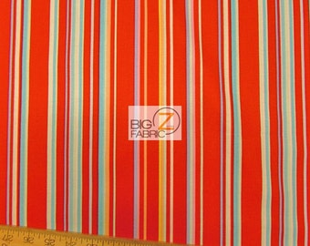 "Paintbox Stripe By Michael Miller 100% Cotton Fabric - 45"" Width Sold By The Yard (FH-1139)"