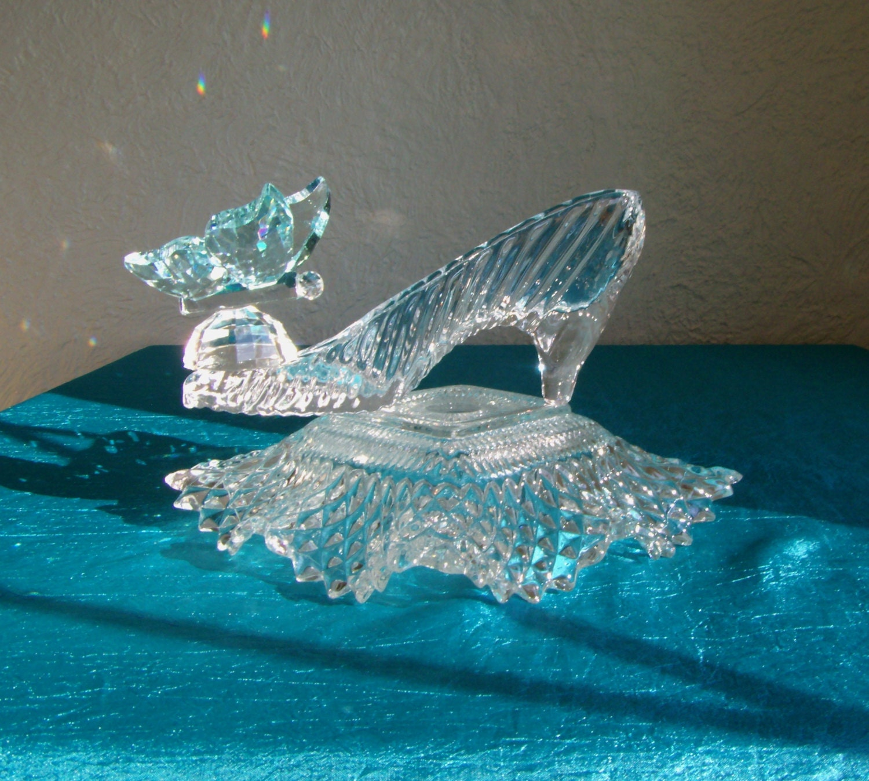 Princess girl art gift cinderella glass slipper with blue