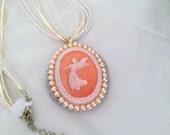 Fairy Bead Embroidery Pendant