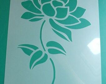 Lotus flower art stencil, Floral stencil, Home decor stencils, painting stencil, wall stencils, decorative stencils, paint anywhere