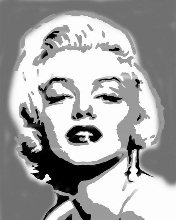 Marilyn Monroe Wall Art Stencil, Home Decorating Stencil, Painting U0026  Decorating Walls, Mariln Monroe Home Decor, Wall Art, Art And Craft Part 52