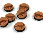 Laser Cut Supplies-8 Pieces.Fox Charms - Laser Cut Wood Fox -Earring Supplies- Little Laser Lab Sustainable Wood Products