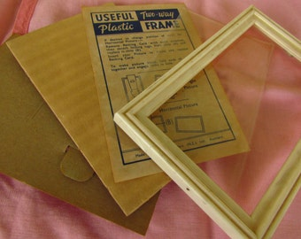 1950s Free-Standing Plastic Picture Frame