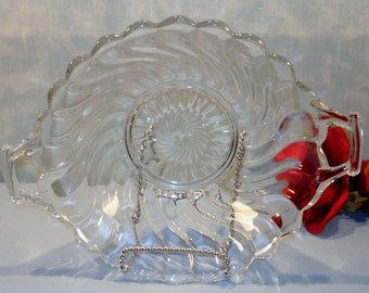 Fostoria Colony Crystal Depression Glass Bowl, 8.5 in.