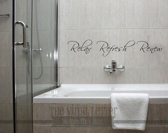 Relax Refresh Renew Vinyl Wall Decal