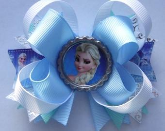 Elsa Bow - Frozen Bow- Elsa Party Favor - Queen Elsa hair bow - Boutique Elsa Bows