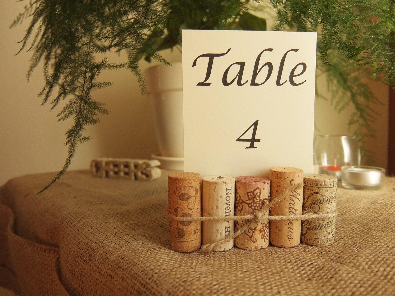 Wine Cork Table Number Holder Wedding Numbers Rustic