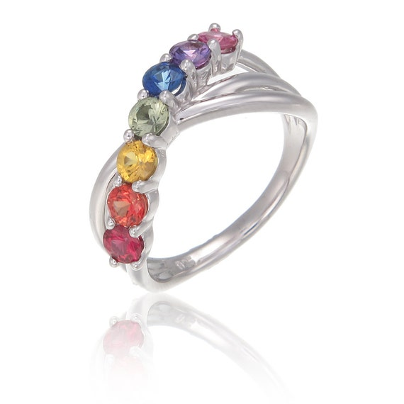 rainbow ring lgbt pride miniature - photo #15