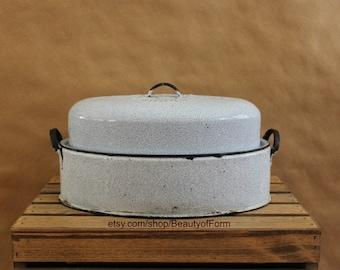 Vintage Enamel Corona Roaster