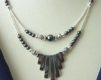 Hematite Spike Necklace