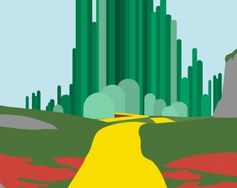 Emerald City Minimalist Poster