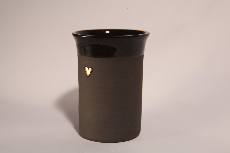 black ceramic coffee mug without handle unique mug by