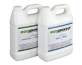 Ecopoxy UV. 2 Litre You have found a safe, Environmentally Friendly, Low Odor, Plant based Epoxy. Needs no ventilation. Casting resin