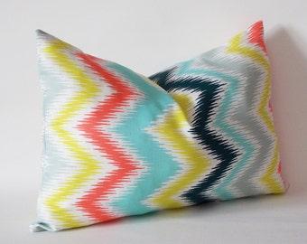 Decorative Lumbar Zigzag Pillow, Lumbar Pillow Cover,Chevron Decorative Throw Pillow Cover,12,14,16,18,20,22,24,26,28,30 inch