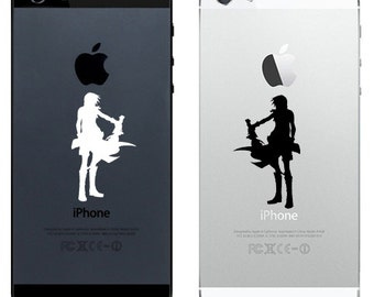 iPhone 4, 5, 6 Decal  Sticker  Final Fantasy 13 Lightning