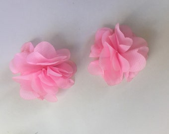 Baby Pink chiffon hair clips
