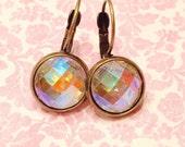 Minimalist earrings- small earrings- minimalist jewelry-cabochon earrings- party hostess gift-gift for her