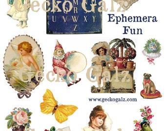Ephemera Fun Digital Collage Sheet