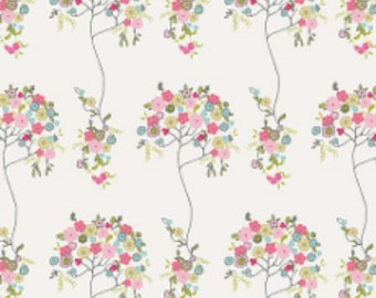 FABULOUS  Art Gallery Tree FLEURE DESIGN Fabric - 100% Cotton - White Background - Quilting, Sewing, Dressmaking, Crafts, Design