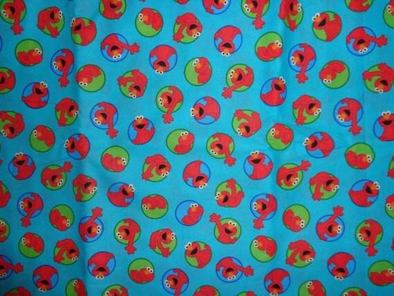 Blue Elmo Cotton Fabric By The Yard By Dddesighns On Etsy