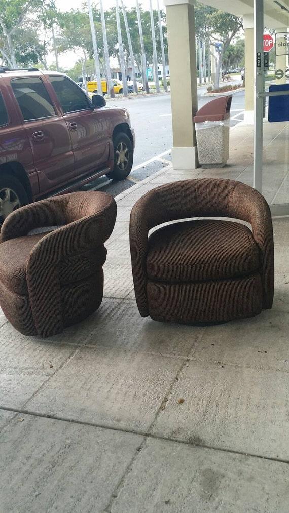 Vintage paire weiman fauteuils pivotant par feelinvintage - Fauteuil club pivotant ...