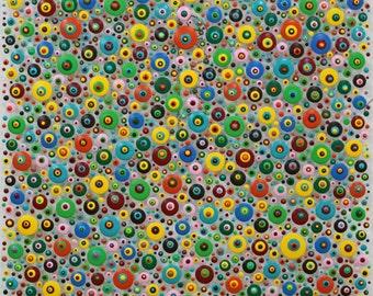 xxl abstrakt art painting acryl plexiglas 100 x 100  cm  40 x 40  inch