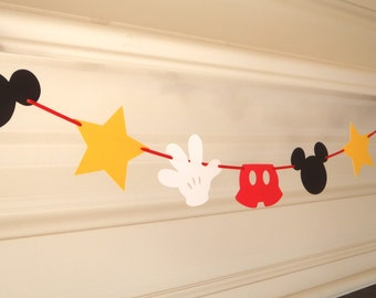 Mickey MouseTheme Shapes Garland Bunting by Feisty Farmers Wife