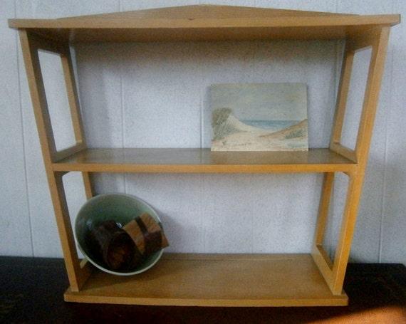 vintage geometric wall shelf danish modern shelf by. Black Bedroom Furniture Sets. Home Design Ideas