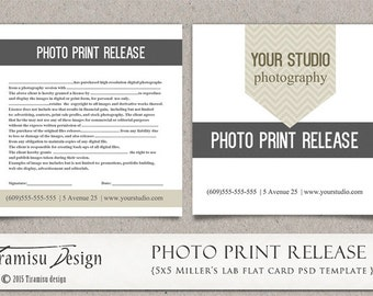 Photography Print Release, 5x5 Template for Adobe Photoshop, sku5-14