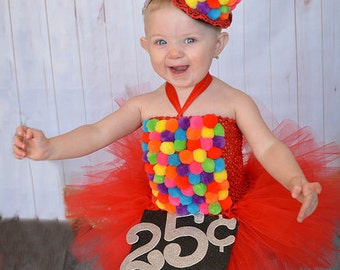 Gumball Costume, Candy Land Dress, Gumball Machine, Gumball Dress, Pageant Dress, Red Tutu Dress, Rainbow Tutu Dress, Candy Dress, Red Tutu